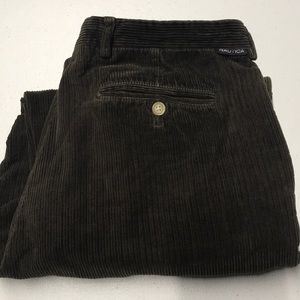 NAUTICA Mens 36 x 32 Brown Corduroy Pants